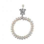 B-BP-13 5MM White Button Freshwater Pearl RM150
