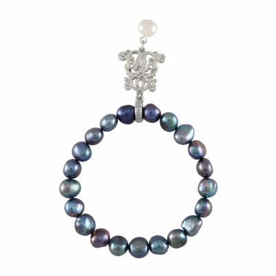 B-BP-17 8MM Blue Semi Round Freshwater Pearl RM72