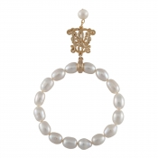 B-BP-3 10MM WHite Oval Freshwater Pearl RM81