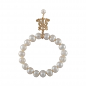 B-BP-4 10MM White Ringed Freshwater Pearl RM120
