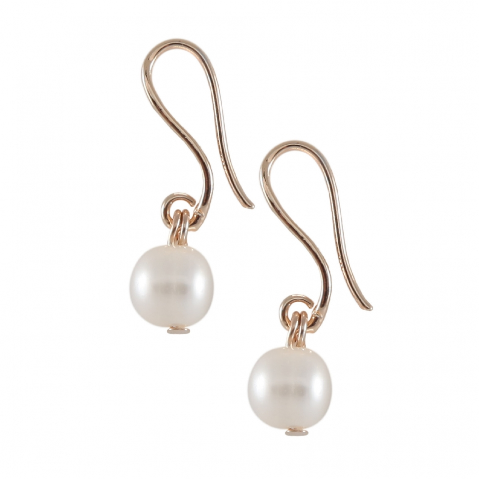 metallic wg freshwater white pearl sizes stud earrings