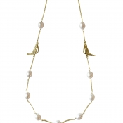 N-BB-23 BOWER BIRD CHAIN NECKLACE GOLD_3