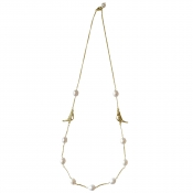 N-BB-23 BOWER BIRD CHAIN NECKLACE GOLD_4
