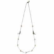 N-BB-24 BOWER BIRD CHAIN NECKLACE SILVER