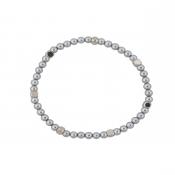 Bob Bracelet - Silver Hematite