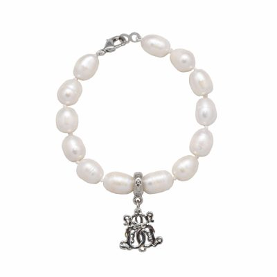 B-MB-8 Freshwater Pearl Silver