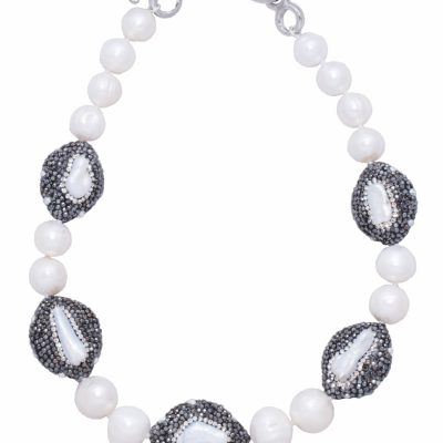 N-KR-2 KEISHI ROSE NECKLACE - PEARL_2