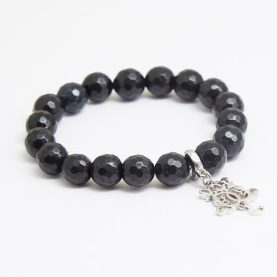 B-P10-1 FACETED BLACK