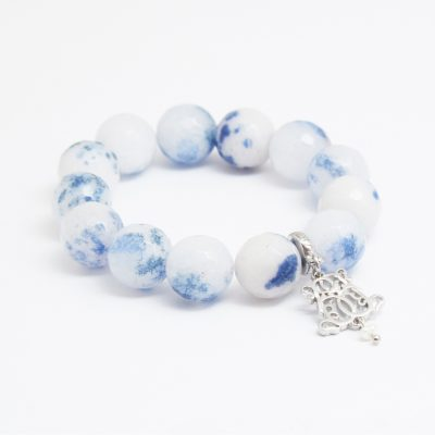 B-P12-24 FACETED CHINA BLUE