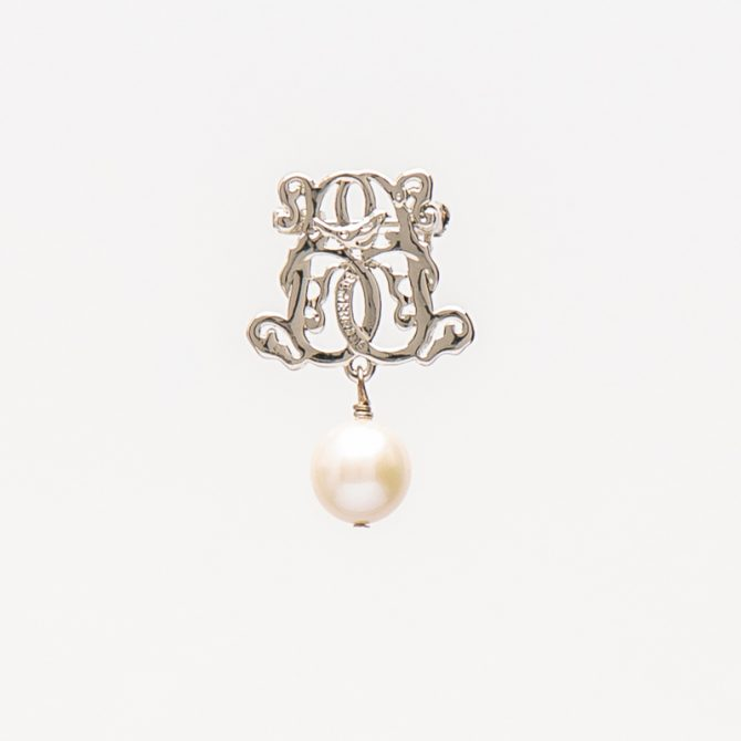 BR-PS-4 20mm Round Pearl Brooch