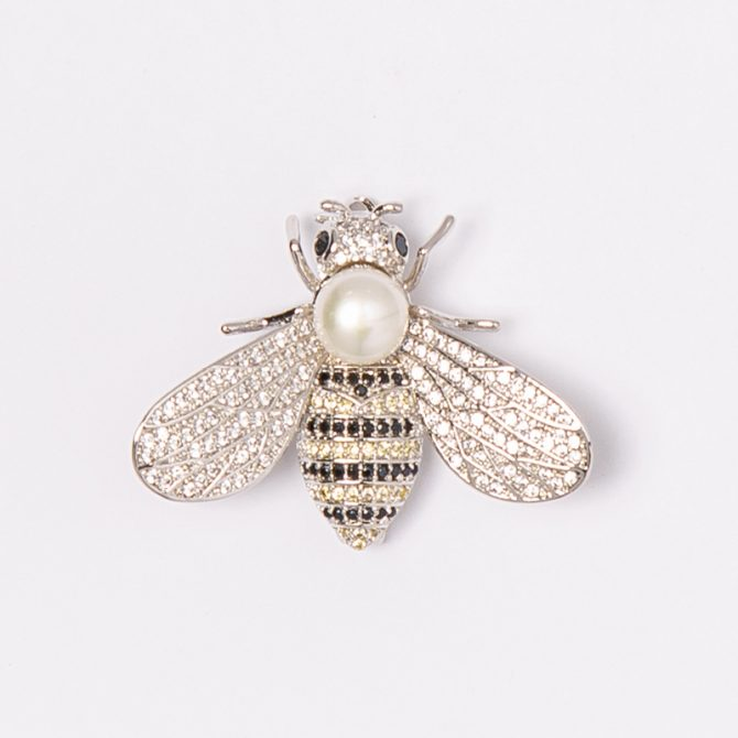 BR-PS-8 Pearl Bee Brooch