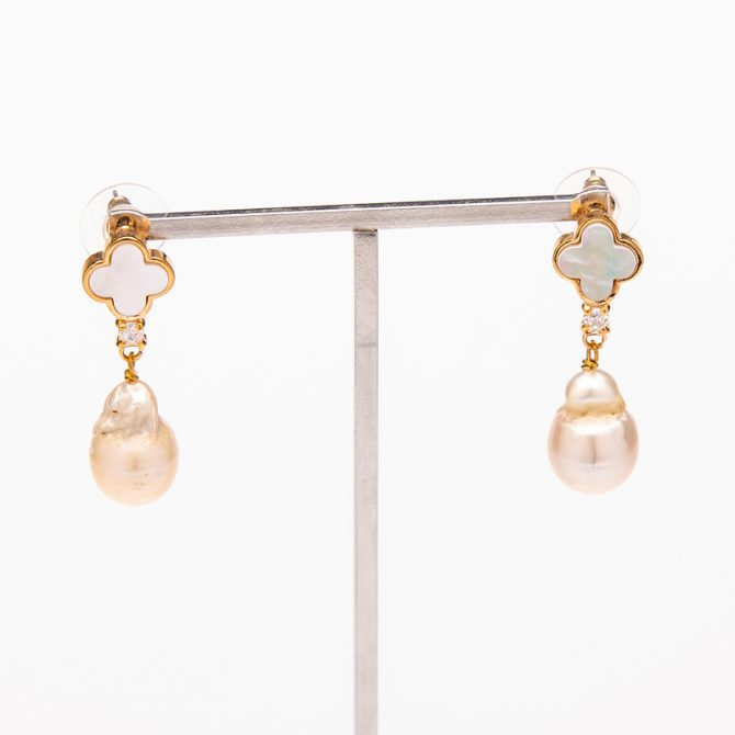 E-PS-47 Clove Stud Pearl Earrings – Mother Of Pearl