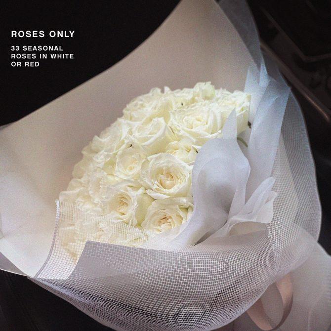 33 Roses in White